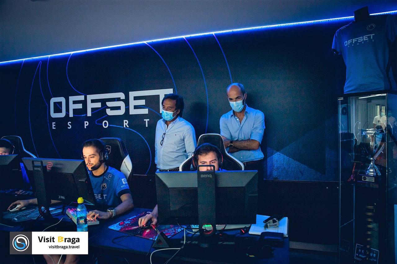 Vereador Altino Bessa e Rui Marques Diretor Geral da AEB visitam Offset Training Center
